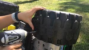 Remove-rubber-tire-sidewalls