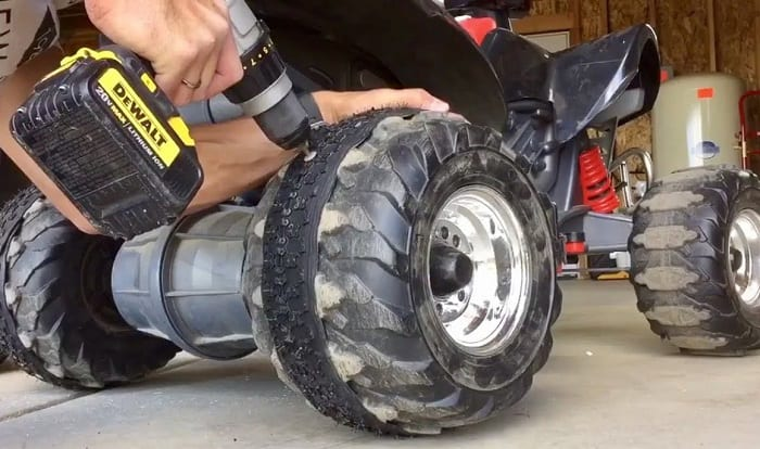 how to add traction to plastic power wheels